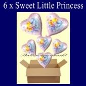Sweet Little Princess Luftballons mit Helium, Kindergeburtstag Geschenke, 6 Stück