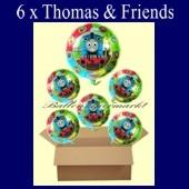 Thomas and Friends Luftballons mit Helium, Kindergeburtstag Geschenke, 6 Stück