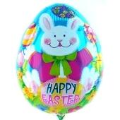Osterei-Luftballon, Happy Easter, frohe Ostern, mit Helium