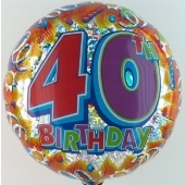 "Happy Birthday ""40"" (heliumgefüllt)"