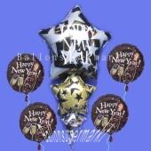 Silvester-Bouquet, Folienballons mit Helium, Silvesterdekoration, Neujahr