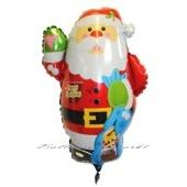 Großer Weihnachtsmann-Luftballon mit Helium
