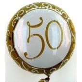 50 Jahre Ballon, zu Geburtstag, 50. Jubiläum, Luftballon aus Folie (ohne Helium)