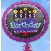 Happy Birthday Geburtstag, Luftballon aus Folie (ohne Helium)