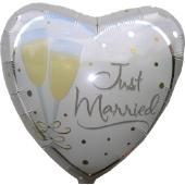 "Jumbo Herz ""Just Married"" (ungefüllt)"