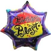 Happy Birthday Blast, Luftballon aus Folie (ohne Helium)