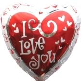 I'm WILD For You, Luftballon aus Folie, zu Liebe und Valentinstag, ohne Helium/ Ballongas