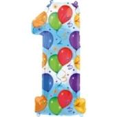 """Luftballons: Folienballondeko Balloons """"1"""" (ohne Helium)"""