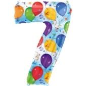 """Luftballons: Folienballondeko Balloons """"7"""" (ohne Helium)"""