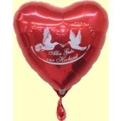 """Luftballon-Herz """"Alles Gute zur Hochzeit"""" (ungefüllt)"""