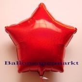 Luftballon aus Folie, Sternballon, Holografischer Glanzeffekt, Rot, ohne Helium