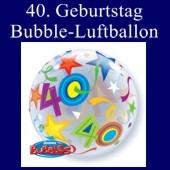 40. Geburtstag, Bubble Luftballon (ohne Helium)