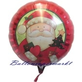 Weihnachts-Ballon der Nikolaus kommt, Luftballons zu Weihnachten ohne Helium