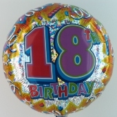 "Happy Birthday ""18"" (ohne Helium)"