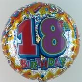 """Happy Birthday """"18"""" (ohne Helium)"""