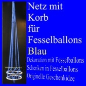 Fesselballon-Netz mit Korb, Blau