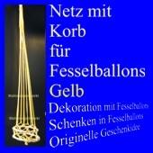 Fesselballon-Netz mit Korb, Gelb