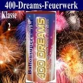 Feuerwerk, 400 Dreams, 400 Schuss, in rasanter Reihenfolge