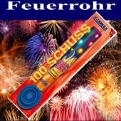 Feuerwerk, Feuerrohr, 100 Schuss