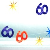 Geburtstag String-Deko 60