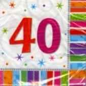 """Geburtstag 40 Deko Servietten """"Radiant Birthday"""""""