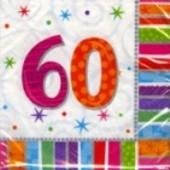 """Geburtstag 60 Deko Servietten """"Radiant Birthday"""""""