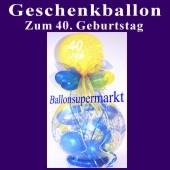 Geschenkballon zum 40. Geburtstag