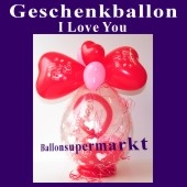 Geschenkballon I Love You