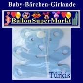 Baby-Bärchen-Girlande-Türkis