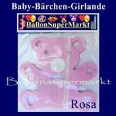 Baby-Bärchen-Girlande-Rosa