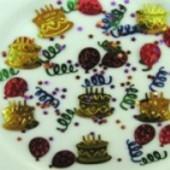 Konfetti Cake Party, Tischdeko und Streudeko zum Geburtstag