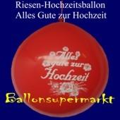 Riesen-Hochzeitsballon-Rot