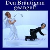 Hochzeitspaar-Deko: Den Bräutigam geangelt