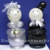 Hochzeitsdeko-Hochzeitspaar aus Luftballons 02