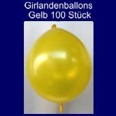 Kettenballons-Girlandenballons-Gelb-Metallic, 100 Stück