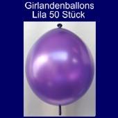 Kettenballons-Girlandenballons-Lila-Metallic, 50 Stück