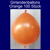 Kettenballons-Girlandenballons-Orange-Metallic, 100 Stück
