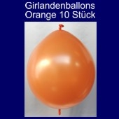 Kettenballons-Girlandenballons-Orange-Metallic, 10 Stück