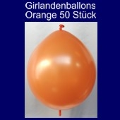 Kettenballons-Girlandenballons-Orange-Metallic, 50 Stück
