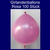 Kettenballons-Girlandenballons-Rosa-Metallic, 100 Stück