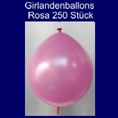 Kettenballons-Girlandenballons-Rosa-Metallic, 250 Stück