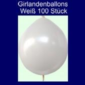 Kettenballons-Girlandenballons-Weiß-Metallic, 100 Stück