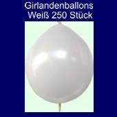 Kettenballons-Girlandenballons-Weiß-Metallic, 250 Stück