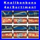 Knallbonbons-Sortiment, 22 cm, 4 Stück