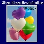 Riesenballons, Herzluftballons 10 Stück