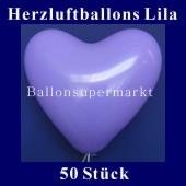 Herzluftballons Lila 50 Stück