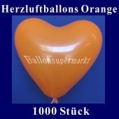 Herzluftballons Orange 1000 Stück