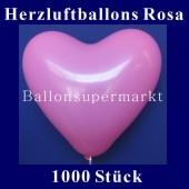 Herzluftballons Rosa 1000 Stück