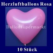 Herzluftballons Rosa 10 Stück