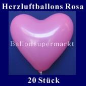 Herzluftballons Rosa 20 Stück